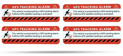Warnaufkleber f/ür PKW /& LKW SECYOURITY GPS Alarm Aufkleber Auto Silber, 6