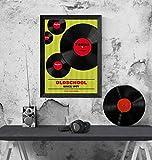 40. Geburtstag: Tolles Geburtstagsgeschenk in DinA4 für Mann und Frau im Jahrgang 1978/1968 | Personalisierte Geburtstagskarte als Geschenk zum 30 mit Motiv: Vinyl/Schallplatten