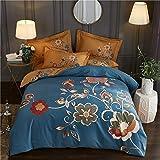 yaonuli Baumwolle Schleifen Vier Stück Blume warme Baumwolle Vier Stück Wasser Bettbezug 200 * 230...