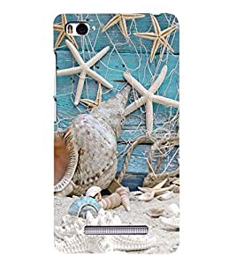 Fuson Premium Back Case Cover Beach With blue Background Degined For Xiaomi Redmi Mi4i::Xiaomi Mi 4i