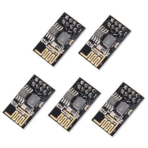 Muzoct 5Pcs ESP8266 ESP-01 ESP-01s WiFi Wireless Transceiver-Modul Mit 1 MB Flash für Arduino