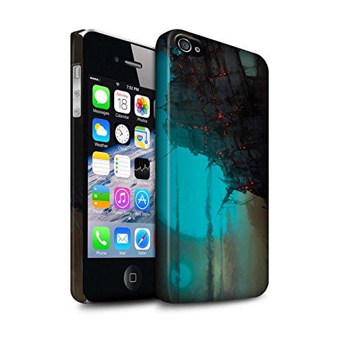 Offiziell Chris Cold Hülle / Matte Snap-On Case für Apple iPhone 4/4S / Schiffswrack Muster / Gefallene Erde Kollektion Gift Haupt