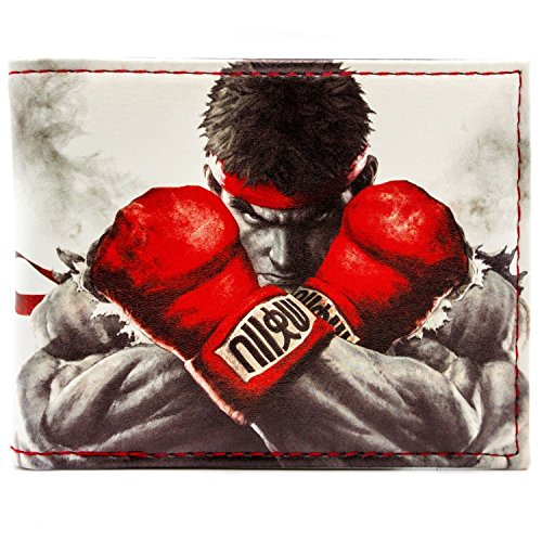 Cartera de Capcom Street Fighter Lucha Ryu, Ken Blanco