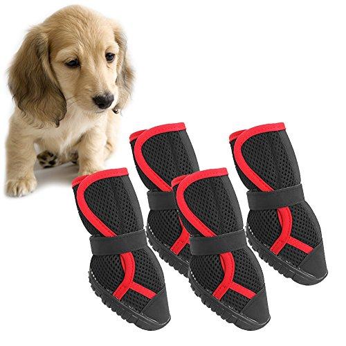 XIYAO Anti-Rutsch-Stiefel / Hausschuhe für große Hunde Golden Retriever Samojeden Alaska (XS / S / M / L) -