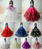 3pcs Mode magnifique robe de soirée à la main pour la poupée Barbie robes / vêtements /robe de poupée (021)