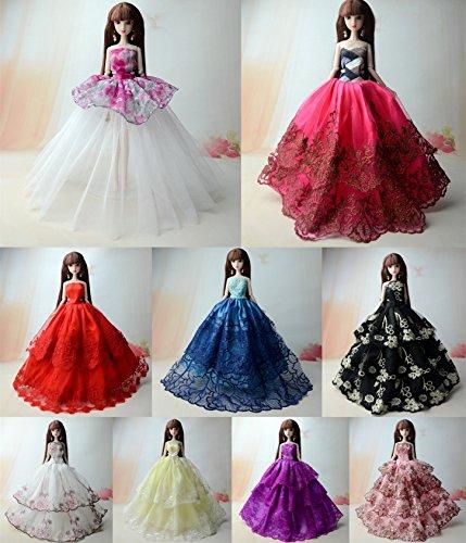 BU-02 / 3 Pcs Schöne und modische handgefertigte elegante Rock für Barbie Puppen (Puppen nicht im Lieferumfang enthalten) (Random Modus) (Rockstar-braut Rock Die)