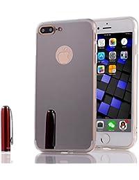 37b4cc928b4 sycode espejo caso para iPhone 8 plus/7 Plus, suave TPU espejo funda para  iPhone 7 Plus, lujo TPU Bumper Carcasa de silicona Handy…
