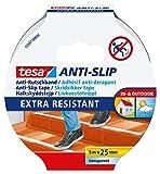 tesa Anti-Rutschband/Antirutsch Klebeband transparent/robuste Antirutschstreifen für Treppen/1 x 5m