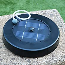 Oxigenador Solar Flotante para Estanque, Jardín, Peces - Bomba Aire Solar - Aireador Exterior con 1 Piedra de Aire de PK Green