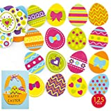 Baker Ross Uova di Pasqua Adesive in Gommapiuma per Bambini, Materiale Artistico Creativo per la Realizzazione di Decorazioni e Biglietti (Confezione da 125)