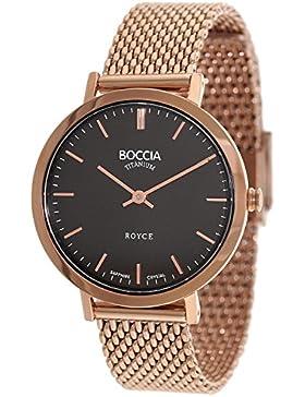 Boccia Damen-Armbanduhr Analog Quarz Edelstahl beschichtet 3246-08