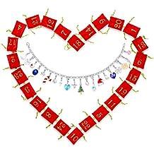 Echtschmuck Adventskalender Damen-Schmuckset Geschenkideen für die Frau oder Freundin mit 24 Schmuckstücken aus 925 Sterling Silber Emaille Kristall mehrfarbig - 4050878527280