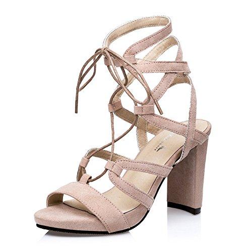 Xing Lin Chaussures D'Été Pour Les Femmes Nouvelles D'Été Épais Avec Croix Romaine Ouvert Toe Strap Sandales Femmes Talon Haut Khaki