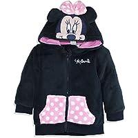 Disney Official Minnie Mouse Baby Girls Coral Fleece Hoodie Jumper Sweatshirt 9 Months - 3 Years - New 2017