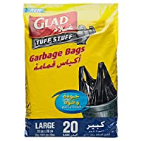 Glad Garbage Tie Large Handle Bags, 110 L
