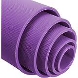 Yoga Exercise Fitness Workout Non Slip Mat 4 & 6 Mm High Density Anti-Tear Exercise Mat