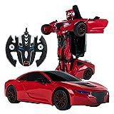 Rastar - Coche teledirigido transformable en robot 1:14, Color Rojo (ColorBaby 85003)