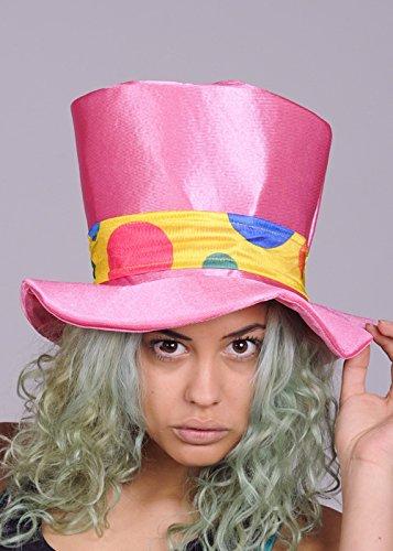 Erwachsene Größe Rosa Circus Clown Hut