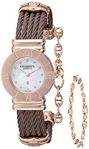 charriol-st-tropez-womens-24mm-brown-steel-bracelet-case-watch-028rp543326