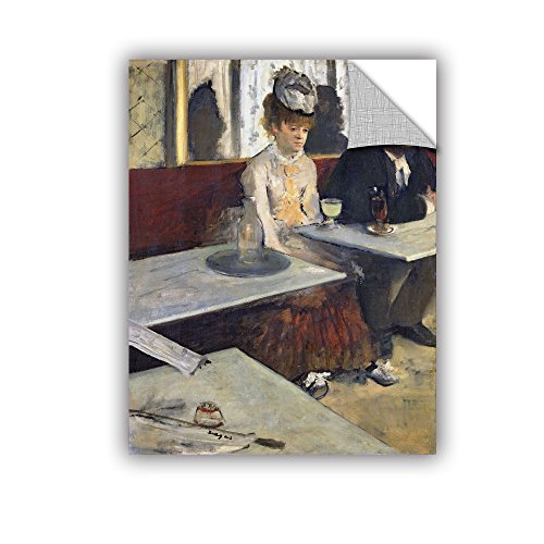 ArtWall Edgar Degas\'s The Absinthe Art Appeelz Wandkunst, abnehmbar 14x18