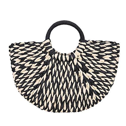Quaan Sommer Frauen Handtasche Strohbeutel Mode Damen Handtasche Lässig Strand Woven Handtasche
