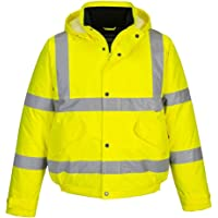 Portwest Hi-Vis Bomber Jacket, Colour: Yellow, Size: XXS, S463YERXXS