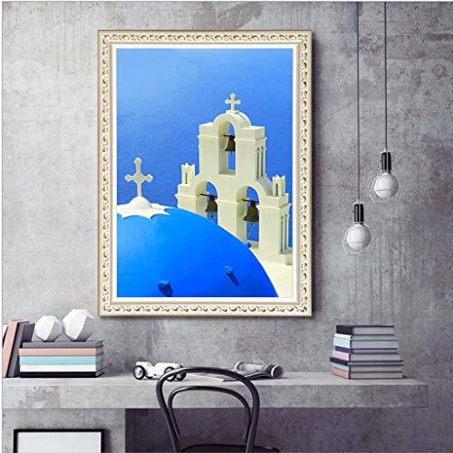 Webla Kreative einfache Dekoration 5D Stickerei Malerei mit Paste Kreuzstich Dekompression, 30x40cm -