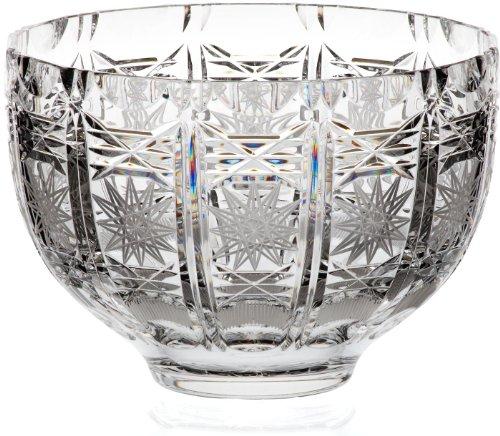 Schale Obstschale Salatschüssel Bongo Transparent Handgeschliffen D 21 cm Kristallglas