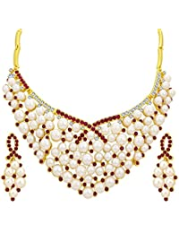 Sukkhi Modern Gold Plated AD Necklace Set For Women