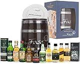 probierFass Geschenk für Männer | (10 x 0.05l) Whisky Probierset im Fass mit Geschenkkarton | Geburtstagsgeschenk für Männer | Vatertagsgeschenk | 50 Geburtstag | Papa Geschenkideen