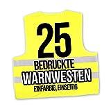 Korntex Warnwesten Sicherheitswesten bedrucken mit eigenem Logo 1farbig 25 Stück
