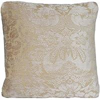 Biege floreale cuscino Velvet throw Pillow case