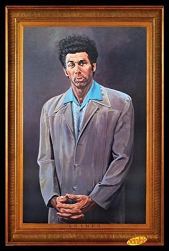 Cosmo Gerahmt (gerahmt Cosmo Kramer Hochformat-Seinfeld TV Show 36x 24Kunstdruck Poster Wall Decor Humor Berühmtes Bild Pop Kultur)