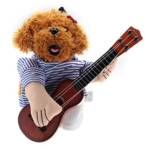 BZAHW Teddy-Hund Halloween-Kostüm Netter lustiger Haustier-Gitarren-Spieler Dress Up Partei-Kleidung (Size : M)