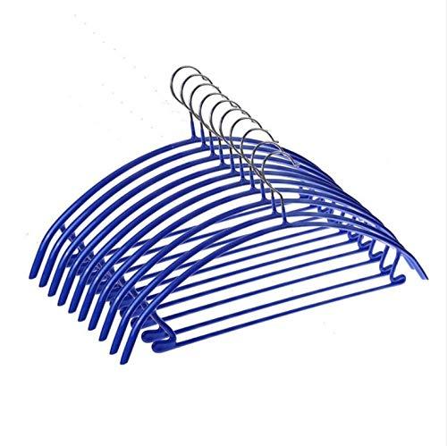 Dwthh 10 Pcs Multifunktions-Anti-Rutsch-Aufhänger Nass und Trocken Dual-Purpose Kunststoff Kleiderbügel