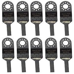 10 mm Lot de 10 lames de scie pour Outil multifonction Worx Makita, Bosch, Dewalt, Longbow