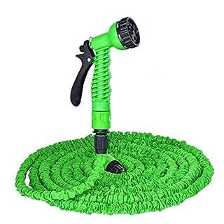 Gartenschlauch - Flexibel Erweiterbar SchLauch Rohr 50ft Kein Knick Magie Outdoor - Schlauch - 7-Pattern Spritzpistole - Grüne
