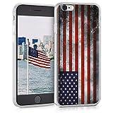 kwmobile Coque Apple iPhone 6 / 6S - Coque pour Apple iPhone 6 / 6S - Housse de téléphone en Silicone Bleu-Rouge-Blanc