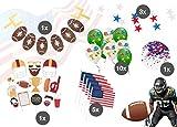 TK Gruppe Timo Klingler XXL Super Bowl American Football Dekoration Deko Set über 100 Teile, Luftballons, Girlande, Konfetti UVM.