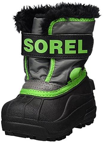 Sorel Toddler Snow Commander, Bottes Bébé Garçon, Gris (Quarry/Cyber Green), 22 EU