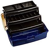 PLASTILYS Boîte de 3 plateaux pivotants Bleu