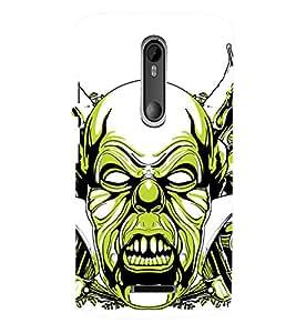 TOUCHNER (TN) Scary Back Case Cover for Motorola Moto X3::Motorola Moto X (3rd Gen)