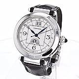 Cartier Pasha de Cartier 32mm Black Leather Band Steel case Automatic Analog Watch W3109255
