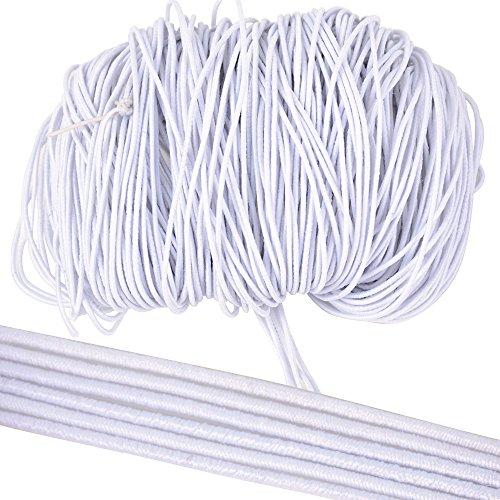BUONDAC 40m * 1mm Cordon Elastique Fil Corde Blanc Bande pour Perles Fabrication Bijoux Bracelet Collier DIY