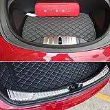 Topfit Protection de seuil de chargement en acier inoxydable chromé pour Modèle 3