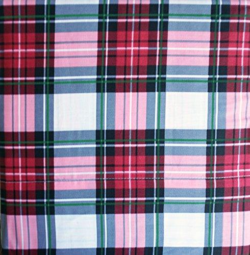 Arctic Holiday Bedding 4-teiliges Bettwäsche-Set aus Baumwolle für Queen-Size-Betten, Rot/Schwarz/Grün gestreift