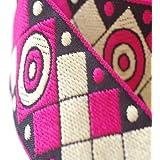 Neotrims decorativo azteca estilo mexicano de cuadros Jacquard Recorte Cinta, ligero étnicos borde con objetivo diseño de cuadros. Se envía en 4fabulosos colores; Azul, Cerise Rosa, Verde Oliva y de color turquesa azul., poliéster, rosa cereza, 2 m