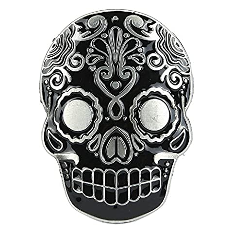 NPET Black Metal Skull Head Men Cool Belt