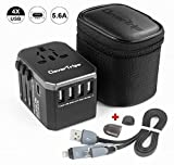 CleverTrips Universal Travel Power Adapter All in One Worldwide International Wall Charger AC