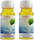 #9: Krishna Retailers Cooler Fragrance - Orange and Camphor Liquid Air Freshener - Pack of 2, 120 ml, Clear
